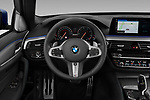 Car pictures of steering wheel view of a 2019 BMW 5-Series - 5 Door Wagon Steering Wheel
