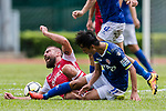 Marcos De La Espada of Kwoon Chung Southern (L) trips up with Pui Fung Liu of Rangers (L) during the Premier League, week two match between Kwoon Chung Southern and BC Rangers at on September 09, 2017 in Hong Kong, China. Photo by Marcio Rodrigo Machado / Power Sport Images