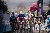 Sep Vanmarcke (BEL/Education First-Drapac) in the first ascent up the Paterberg<br /> <br /> 102nd Ronde van Vlaanderen 2018 (1.UWT)<br /> Antwerpen - Oudenaarde (BEL): 265km