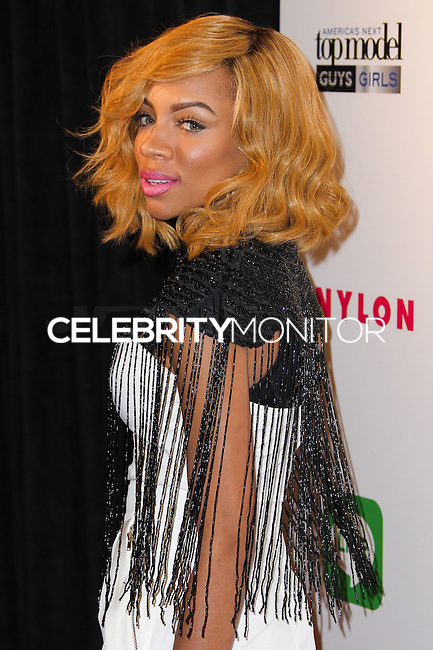 HOLLYWOOD, LOS ANGELES, CA, USA - AUGUST 20: Rapper Lil' Mama arrives at the America's Next Top Model Cycle 21 Premiere Party held at Supperclub on August 20, 2014 in Hollywood, Los Angeles, California, United States. (Photo by Xavier Collin/Celebrity Monitor)