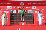 Mathieu van der Poel (NED) Alpecin-Fenix wins Stage 1 and also wears the first points Green Jersey of the 2021 UAE Tour the ADNOC Stage running 176km from Al Dhafra Castle to Al Mirfa, Abu Dhabi, UAE. 21st February 2021.  <br /> Picture: LaPresse/Gian Mattia D'Alberto | Cyclefile<br /> <br /> All photos usage must carry mandatory copyright credit (© Cyclefile | LaPresse/Gian Mattia D'Alberto)