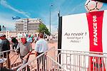World Cup 1998, France 98<br /> Signs says 'Au revoir' 'Goodbye' 'Adios'<br /> (Exact date tbc). Photo by Tony Davis