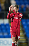 St Johnstone v Aberdeen…13.12.17…  McDiarmid Park…  SPFL<br />Kari Aranson applauds the fans at full time<br />Picture by Graeme Hart. <br />Copyright Perthshire Picture Agency<br />Tel: 01738 623350  Mobile: 07990 594431