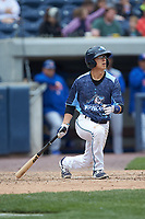 Cole Peterson (19) of the West Michigan Whitecaps follows through on his swing against the South Bend Cubs at Fifth Third Ballpark on June 10, 2018 in Comstock Park, Michigan. The Cubs defeated the Whitecaps 5-4.  (Brian Westerholt/Four Seam Images)