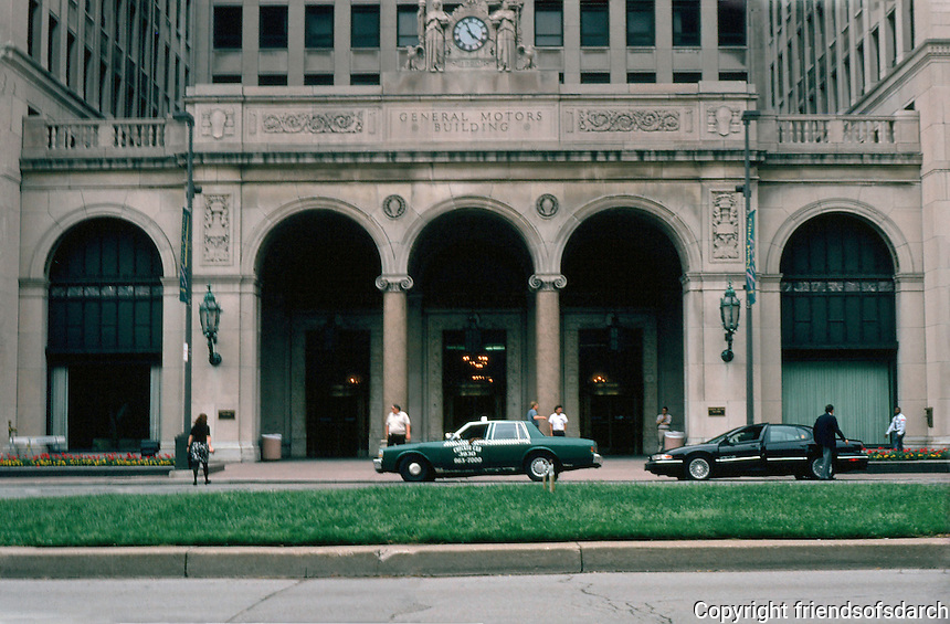 Detroit:  General Motors Building--entrance,  Grand Boulevard.  Albert Kahn & Assoc. 1922.