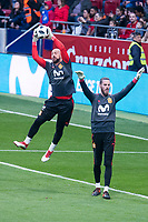 Spain Pepe Reina and David de Gea during training session the day before Spain and Argentina match at Wanda Metropolitano in Madrid , Spain. March 26, 2018. (ALTERPHOTOS/Borja B.Hojas) /NortePhoto NORTEPHOTOMEXICO