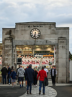 8 October 2021; Supporters arrive at the Memorial End before the United Rugby Championship match between Ulster and Benetton at Kingspan Stadium in Belfast. Photo by Ramsey Cardy/Dicksondigital