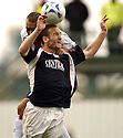 10/09/2005         Copyright Pic : James Stewart.File Name : jspa12 falkirk v rangers.FERNANDO RICKSEN AND STEVEN O'DONNELL CHALLENGE FOR THE BALL.....Payments to :.James Stewart Photo Agency 19 Carronlea Drive, Falkirk. FK2 8DN      Vat Reg No. 607 6932 25.Office     : +44 (0)1324 570906     .Mobile   : +44 (0)7721 416997.Fax         : +44 (0)1324 570906.E-mail  :  jim@jspa.co.uk.If you require further information then contact Jim Stewart on any of the numbers above.........