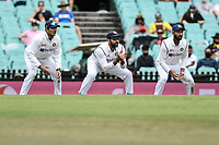 8th January 2021; Sydney Cricket Ground, Sydney, New South Wales, Australia; International Test Cricket, Third Test Day Two, Australia versus India; the Indian slip team ready for a delivery