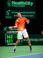 12-02-12, Netherlands,Tennis, Den Bosch, Daviscup Netherlands-Finland, Thiemo de Bakker