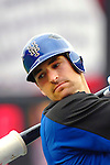3 April 2006: Xavier Nady, outfielder for the New York Mets, takes batting practice prior to the Opening Day game against the Washington Nationals at Shea Stadium, in Flushing, New York. The Mets defeated the Nationals 3-2 to lead off the 2006 MLB season...Mandatory Photo Credit: Ed Wolfstein Photo..