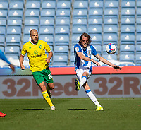 12th September 2020 The John Smiths Stadium, Huddersfield, Yorkshire, England; English Championship Football, Huddersfield Town versus Norwich City;  Richard Stearman of Huddersfield Town plays the ball forward