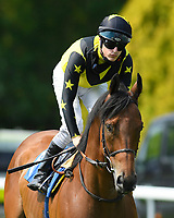 Encore d'Or ridden by Richard kingscote goes down to the start of The AJN Steelstock / Pam Bruford Memorial Handicap during Horse Racing at Salisbury Racecourse on 9th August 2020
