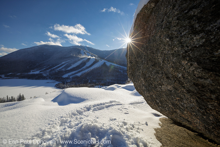 Cannon Mountain from Artists Bluff in Franconia Notch State Park of the New Hampshire White Mountains.