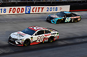 #20: Erik Jones, Joe Gibbs Racing, Toyota Camry Sport Clips and #66: Timmy Hill, Motorsports Business Management, Toyota Camry
