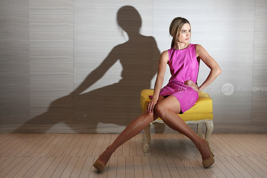 12/1/2010. Brown Thomas Spring 2011 Collections. Model Sarah Morrissey wears a Balenciga pink suede shift dress EUR1095 at Designer Rooms to exclusively preview the Brown Thomas Spring 2011 Collections. Picture James Horan/Collins Photos