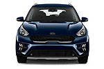 Car photography straight front view of a 2020 KIA Niro More 5 Door Hatchback Front View