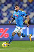Andrea Petagna of SSC Napoli during the Italy Cup football match between SSC Napoli and Empoli FC at stadio Diego Armando Maradona in Napoli (Italy), January 13, 2021. <br /> Photo Cesare Purini / Insidefoto