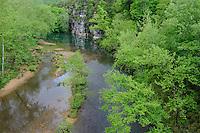 Buffalo River from Highway 7 Bridge<br /> Pruitt Landing<br /> Buffalo National River<br /> Newton County, Arkansas