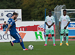 11.10.2020, Marschwegstadion, Oldenburg, GER, RL Nord,, Gruppe Süd VfB Oldenburg vs SV Werder Bremen U23,  DFL regulations prohibit any use of photographs as image sequences and/or quasi-video, im Bild<br /> Freistoss fuer den VfB Oldenburg Nico MATERN (VfB Oldenburg #8 ) Kebba BADJIE (SV Werder Bremen U23 #18 ) Abdenego NANKISHI (SV Werder Bremen U23 #24 )<br /> <br /> Foto © nordphoto / Rojahn