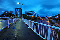 Wellington urban motorway, Molesworth St at 7am, Wednesday during Level 4 lockdown for the COVID-19 pandemic in Wellington, New Zealand on Wednesday, 18 August 2021.