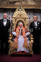 The Holy See's diplomatic corps,  traditional speech the Benedict XVI, at the Vatican. Jan 11, 2011