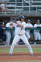 Braxton Giavedoni (23) of the Penn State Nittany Lions at bat against the Xavier Musketeers at Coleman Field at the USA Baseball National Training Center on February 25, 2017 in Cary, North Carolina. The Musketeers defeated the Nittany Lions 7-5 in game two of a double header. (Brian Westerholt/Four Seam Images)
