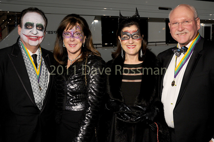 From left: Alan and Elizabeth Stein with Ellie and Mike Francisco at the 20th San Luis Salute Friday Feb. 05, 2016.(Dave Rossman photo)