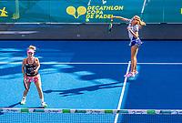 Utrecht, The Netherlands,  September 5, 2021,  Jaarbeurs, Decathlon Copa de Padel,    Lorena Alonso de Lera (ESP) and Nela Brito Azcona (ARG)<br /> Photo: Tennisimages/Henk Koster