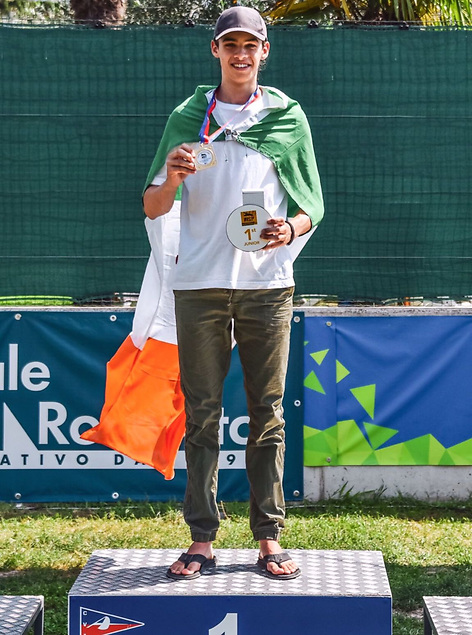 Charlie Cullen on the podium in Italy