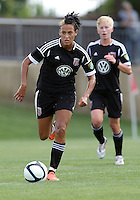 BOYDS, MARYLAND - July 22, 2012:  Lianne Sanderson (10) of DC United Women on the attack against the Charlotte Lady Eagles during the W League Eastern Conference Championship match at Maryland Soccerplex, in Boyds, Maryland on July 22. DC United Women won 3-0.