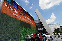 Milano - Rho Fiera 25/5/2015<br /> Veduta esterna del padiglione di Israele.<br /> Foto Livio Senigalliesi