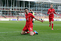 O's Connor Wilknson celebrates after scoring the ipener during Leyton Orient vs Oldham Athletic, Sky Bet EFL League 2 Football at The Breyer Group Stadium on 27th March 2021