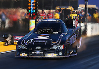 Jul. 25, 2014; Sonoma, CA, USA; NHRA funny car driver Alexis DeJoria during qualifying for the Sonoma Nationals at Sonoma Raceway. Mandatory Credit: Mark J. Rebilas-