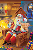 Eberle, Comics, CHRISTMAS SANTA, SNOWMAN, paintings, DTPC104,#X# Weihnachten, Navidad, illustrations, pinturas