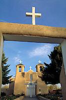 San Francisco de Asis Church. Adobe construction. Taos New Mexico.