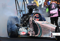 Oct 5, 2013; Mohnton, PA, USA; NHRA top fuel dragster driver Doug Kalitta during qualifying for the Auto Plus Nationals at Maple Grove Raceway. Mandatory Credit: Mark J. Rebilas-