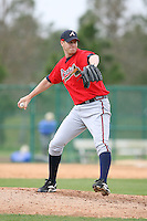 March 22nd 2008:  Phil Stockman of the Atlanta Braves minor league system during a Spring Training camp day at Disney's Wide World of Sports in Orlando, FL.  Photo by:  Mike Janes/Four Seam Images