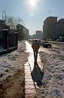 Gennaio 2009, nevicata su Milano. Quartiere Greco --- January 2009, snowfall in Milan. Greco district