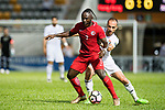 Karikari Godfred of Hong Kong (L) in action against Mohammad Aldmeiri of Jordan (R) during the International Friendly match between Hong Kong and Jordan at Mongkok Stadium on June 7, 2017 in Hong Kong, China. Photo by Marcio Rodrigo Machado / Power Sport Images