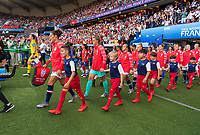 PARIS,  - JUNE 16: Carli Lloyd #10, Alyssa Naeher #1, and the rest of the USWNT enter the field during a game between Chile and USWNT at Parc des Princes on June 16, 2019 in Paris, France.