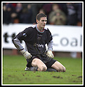 25/1/03       Copyright Pic : James Stewart                  .File Name : stewart-falkirk v hearts 23.HEARTS YOUNG KEEPER CRAIG GORDON IS DISTRAUGHT AFTER HE LOSES THE FOURTH GOAL OF THE DAY.....James Stewart Photo Agency, 19 Carronlea Drive, Falkirk. FK2 8DN      Vat Reg No. 607 6932 25.Office : +44 (0)1324 570906     .Mobile : + 44 (0)7721 416997.Fax     :  +44 (0)1324 570906.E-mail : jim@jspa.co.uk.If you require further information then contact Jim Stewart on any of the numbers above.........