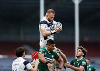 4th October 2020; Twickenham Stoop, London, England; Gallagher Premiership Rugby, London Irish versus Bristol Bears; Joe Joyce of Bristol Bears catches the ball during the line-out