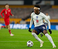 13th October 2020; Molineux Stadium, Wolverhampton, West Midlands, England; UEFA Under 21 European Championship Qualifiers, Group Three, England Under 21 versus Turkey Under 21; Callum Hudson Odoi of England turns quickly with the ball at his feet