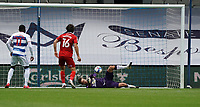 Middlesbrough's Marcus Bettinelli makes a save against Queens Park Rangers<br /> <br /> Photographer Stephanie Meek/CameraSport<br /> <br /> The EFL Sky Bet Championship - Queens Park Rangers v Middlesbrough - Saturday 26th September 2020 - Loftus Road - London <br /> <br /> World Copyright © 2020 CameraSport. All rights reserved. 43 Linden Ave. Countesthorpe. Leicester. England. LE8 5PG - Tel: +44 (0) 116 277 4147 - admin@camerasport.com - www.camerasport.com