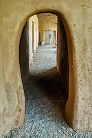 Arched walkway at Hacienda de los Martinez museum, Taos, New Mexico