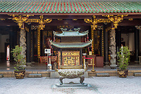 Singapore, Courtyard of Thian Hock Keng Taoist Temple.