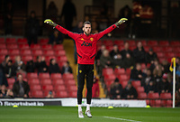 Goalkeeper David De Gea of Man Utd pre match during the Premier League match between Watford and Manchester United at Vicarage Road, Watford, England on 22 December 2019. Photo by Andy Rowland.
