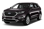 2017 Ford Edge Vignale base 5 Door SUV angular front stock photos of front three quarter view
