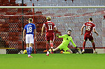 Aberdeen v St Johnstone…26.12.20   Pittodrie      SPFL<br />Sam Cosgrove sends Zander Clark the wrong way to level the score<br />Picture by Graeme Hart.<br />Copyright Perthshire Picture Agency<br />Tel: 01738 623350  Mobile: 07990 594431
